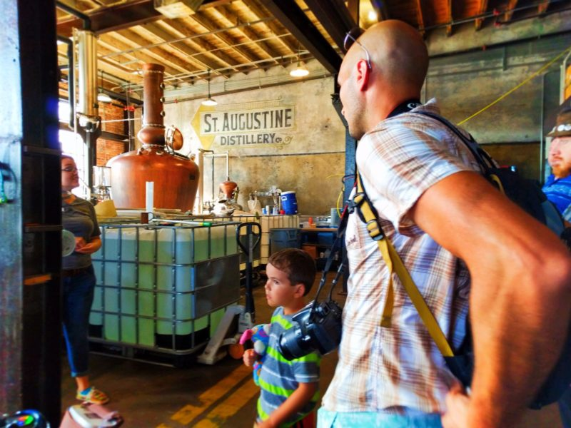 Taylor Family on Distillery tour St Augustine Distillery 2
