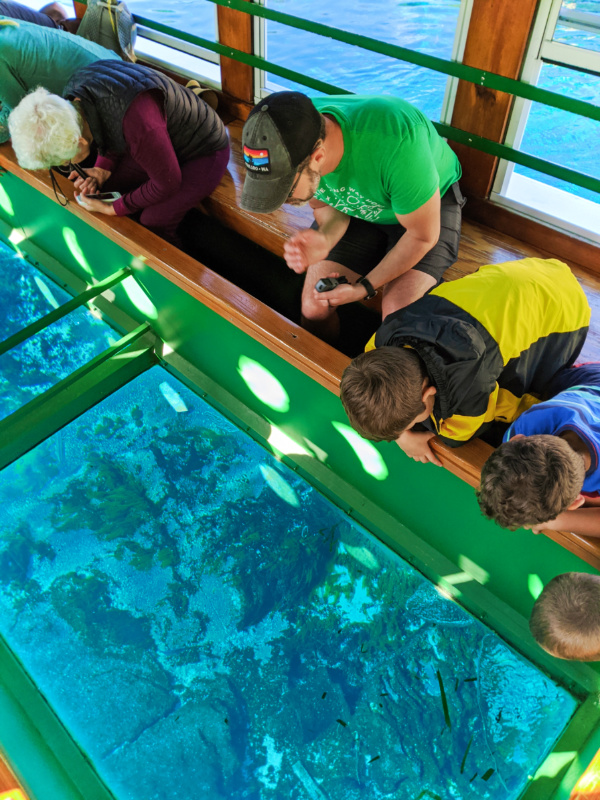 Taylor Family on Glass Bottom Boat at Silver Springs State Park 1