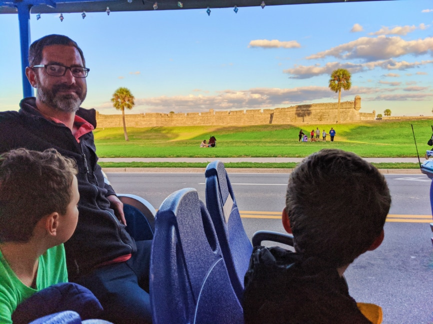 Taylor Family on Golf Cart tour of Saint Augustine Florida 2