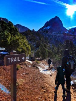Taylor Family on Lee Pass Trailhead at Kolob Canyons Zion National Park Utah 1