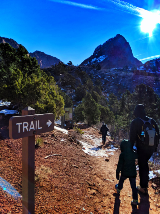 Taylor Family on Lee Pass Trailhead at Kolob Canyons Zion National Park Utah 1