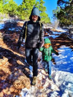 Taylor Family on Lee Pass Trailhead at Kolob Canyons Zion National Park Utah 2