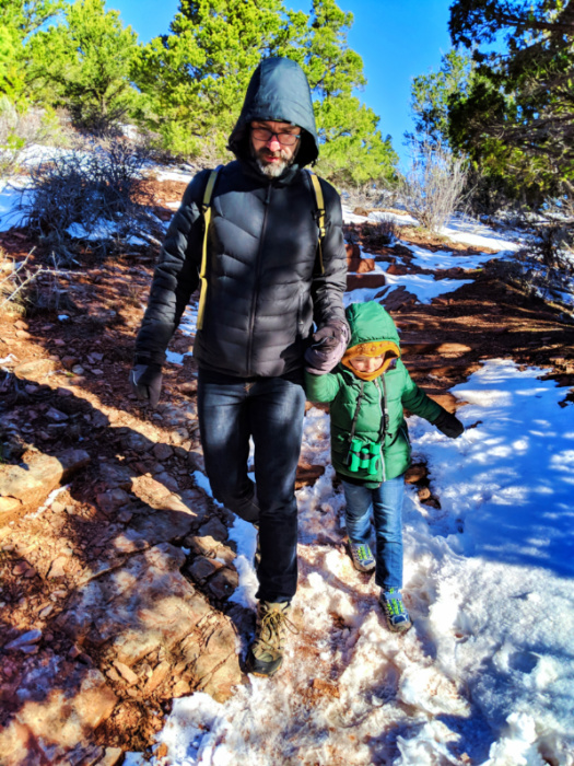 Taylor Family on Lee Pass Trailhead at Kolob Canyons Zion National Park Utah 2