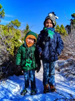 Taylor Family on Lee Pass Trailhead at Kolob Canyons Zion National Park Utah 3