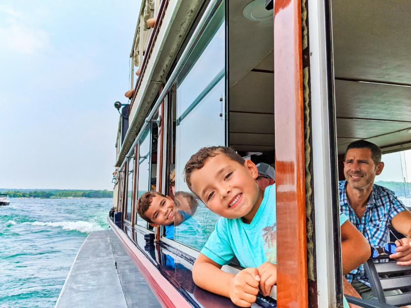 Taylor Family on Mailboat Tour Cruise Lake Geneva Wisconsin 5