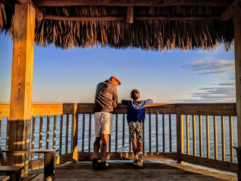 Taylor Family on Pier at Ocean Pointe Suites Key Largo Florida Keys 2020 3