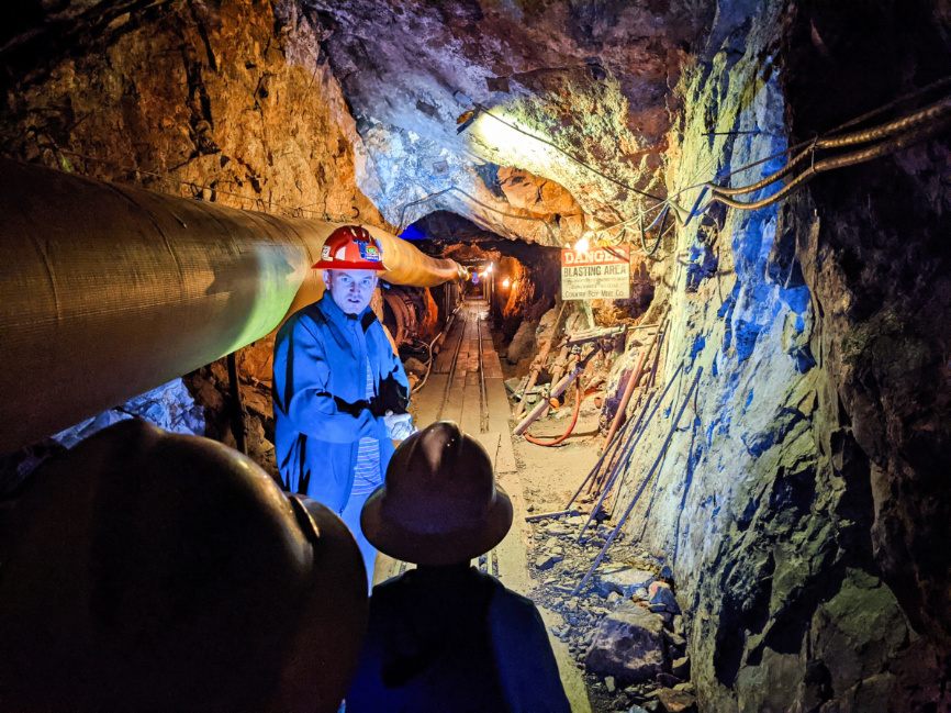 Taylor Family on Tour in Mine Shaft at Country Boy Mine Breckenridge Colorado 1