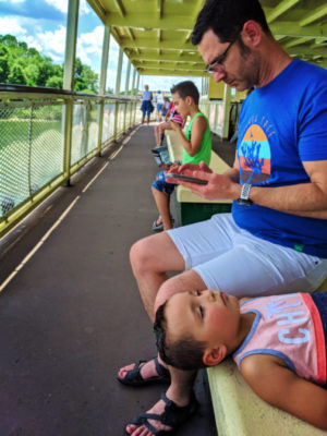 Taylor Family on ferry on Lake outside Magic Kingdom Disney World Orlando Florida 1