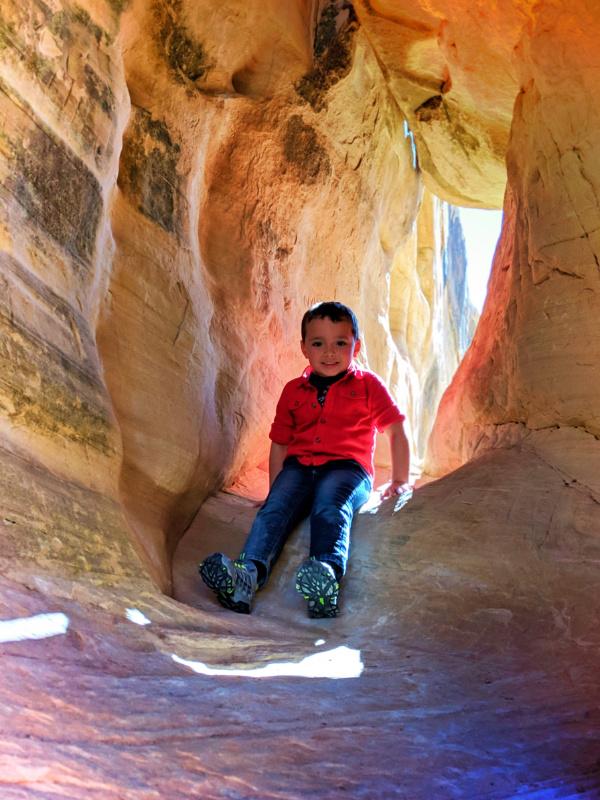 Taylor Family on rocks at Devils Garden Grand Staircase Escalante Utah 2