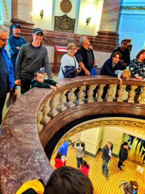 Taylor Family on tour in Parliament Victoria BC 1