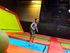 Taylor Family playing trampoline park at Big Air Buena Park California 4