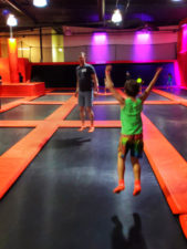 Taylor Family playing trampoline park at Big Air Buena Park California 5