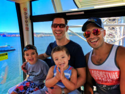 Taylor Family riding Great Wheel on Seattle Waterfront in Summer 1