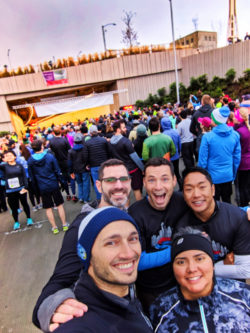Taylor Family running Tunnel to Viaduct 8K Run Seattle Center MoPop exterior 1