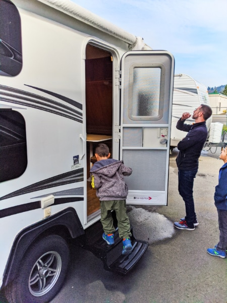 Taylor Family shopping for camper trailer Tacoma RV 2020 1
