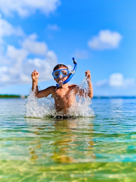 Taylor Family snorkeling at John Pennekamp Coral Reef State Park Key Largo Florida Keys 2020 13