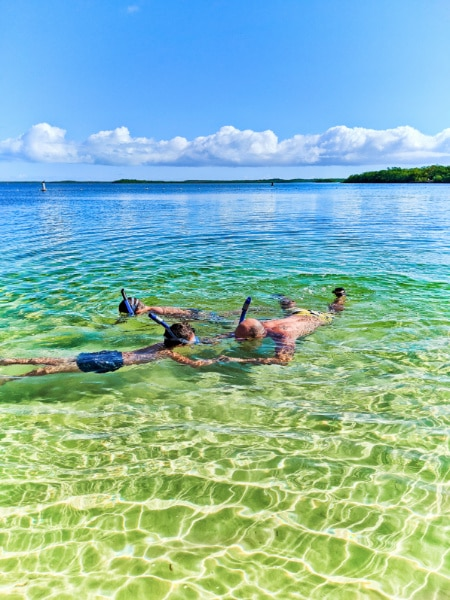 Taylor Family snorkeling at John Pennekamp Coral Reef State Park Key Largo Florida Keys 2020 9