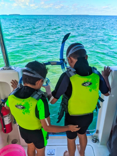 Taylor Family snorkeling in Wetsuits with Honest Ecotours Key West Florida Keys 2020 4