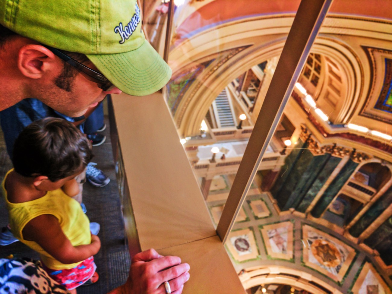 Taylor Family touring Capitol Building Madison Wisconsin 4