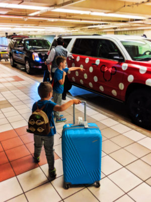 Taylor Family with American Tourister luggage at MCO Orlando International Airport 1