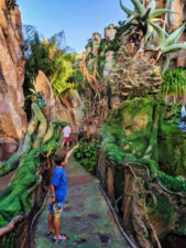 Taylor Family with Floating mountains of Pandora Disneys Animal Kingdom Disney World Orlando Florida 2
