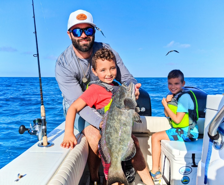 Taylor Family with Grouper Fishing with Two Conchs out of Marathon Key 2020 1