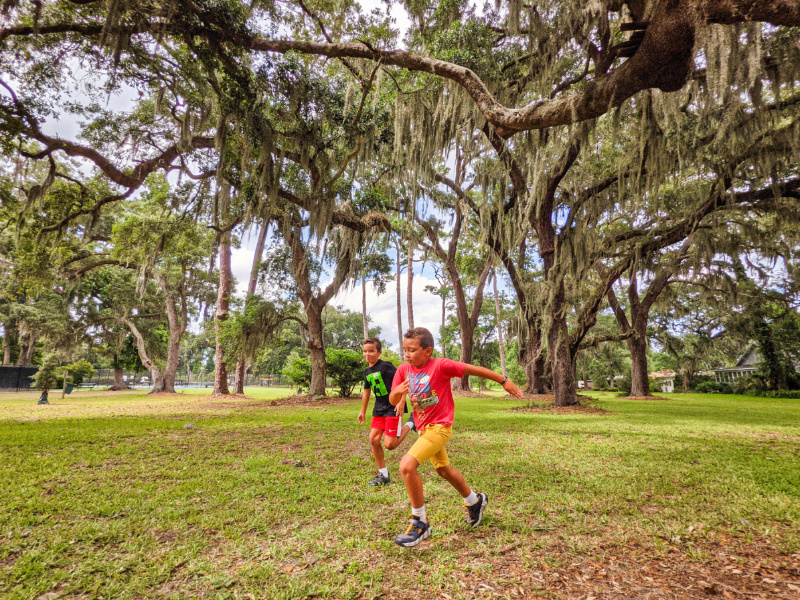 Taylor Family with Live Oaks and Moss at Kings Park on St Simons Island Golden Isles Georgia 3