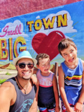 Taylor Family with Street Art Santa Maria Valley Guadalupe California 1