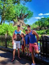 Taylor Family with Tree of Life Disneys Animal Kingdom Disney World Orlando Florida 1