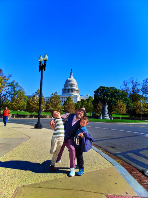 Taylor Family with US Capitol Building from National Mall Washington DC 3