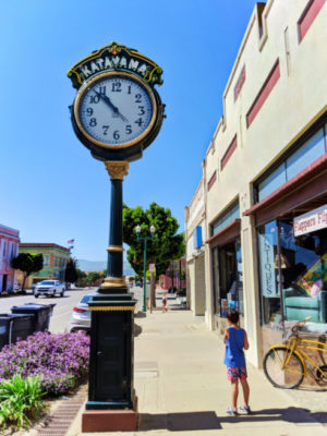 Taylor Family with clock downtown Guadalupe Santa Maria Valley California 2