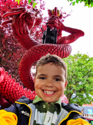 Taylor Family with dragon in Chinatown Victoria BC 1