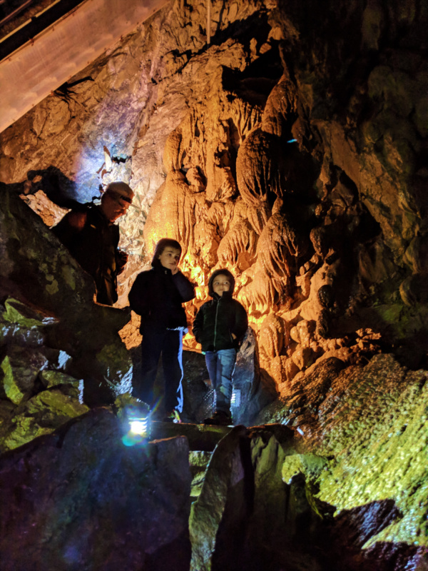 Taylor Family with ranger in caves at Oregon Caves National Monument Oregon 3