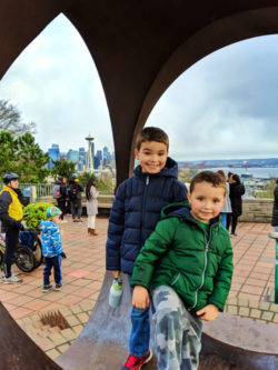 Taylor Kids playing at Kerry Park Queen Anne Hill Seattle 2