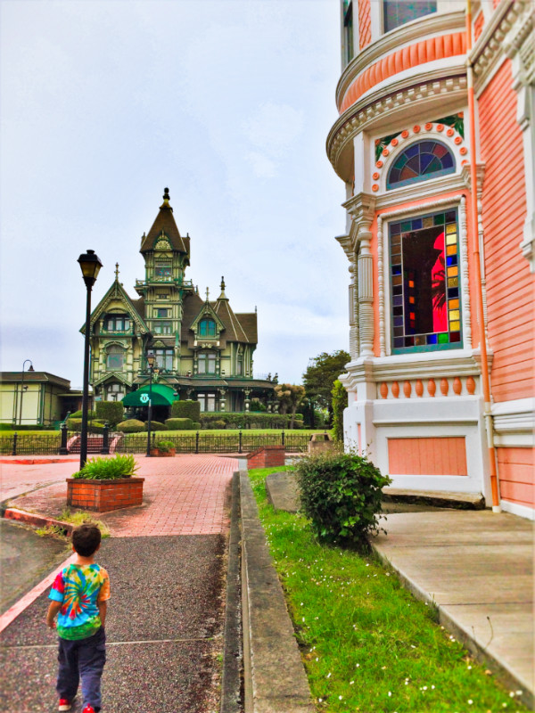 Taylor Kids with Victorian Mansions in Eureka 1b