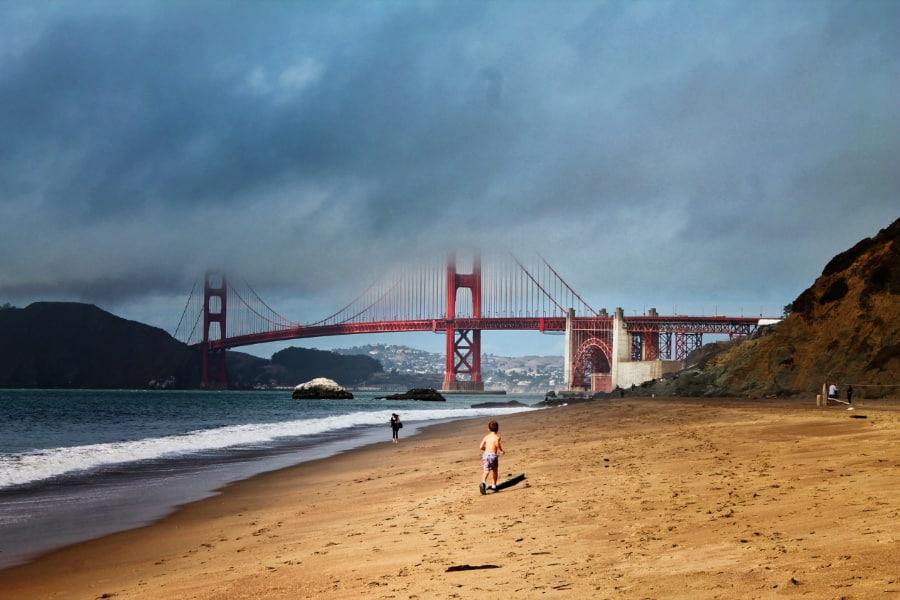 Taylor family at Golden Gate Bridge from Baker Beach GGNRA San Francisco 18