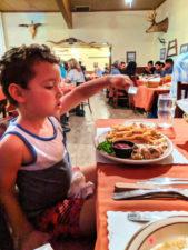 Taylor family dining at Hitching Post restaurant Casmalia Santa Maria Valley California 3