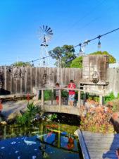 Taylor kids Garden at Hitching Post restaurant Casmalia Santa Maria Valley California 2