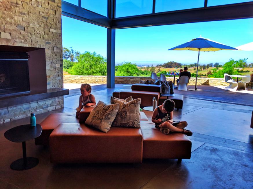 Taylor kids at Presqu'ile Winery Santa Maria Valley California 3