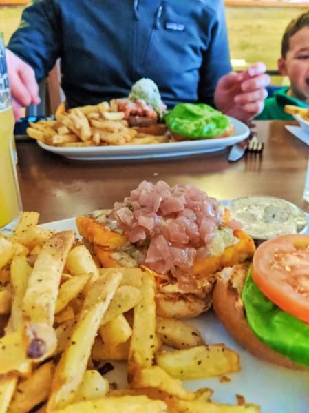 Tofu Burger at Bin 4 Burger Lounge Victoria BC 1