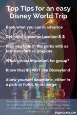 Top tips for enjoying a Disney World vacation within minimal stress. Save money and truly enjoy Disney World in Orlando, Florida.
