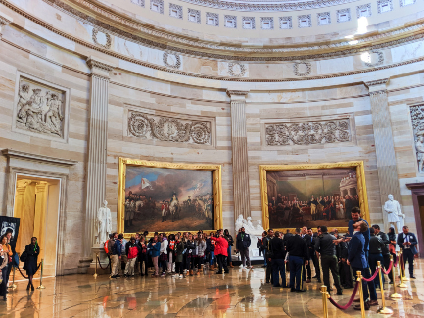 Tour Groups in rotunda US Capitol Building Washington DC 3