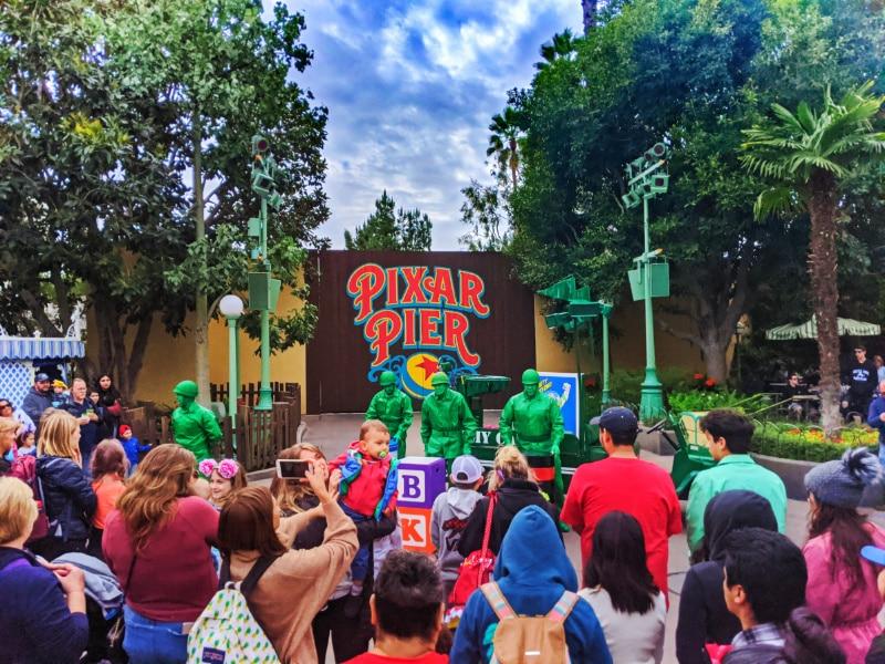 Toy Story Green Army Men's Performance Pixar Pier California Adventure Disneyland 2020 1