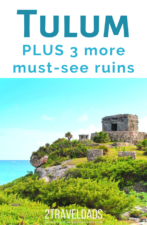 The best Mayan Ruins in Mexico are on the Yucatan. Tulum is the most iconic, set next to the Caribbean, but there are three others you MUST VISIT. Find out more. #mexico #ruins #caribbean