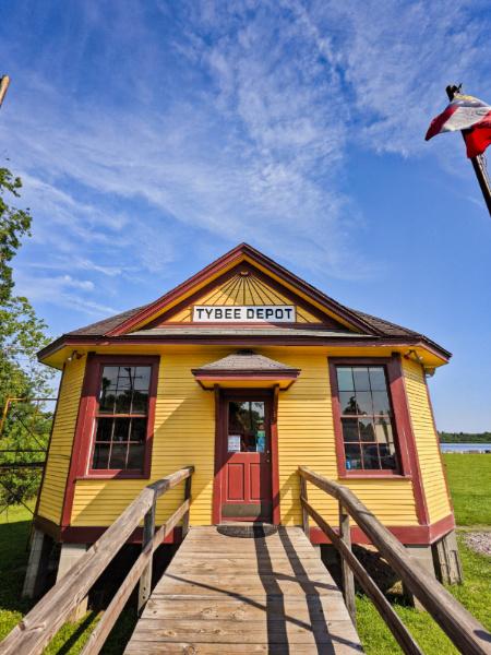 Tybee Depot at Old Fort Jackson Historic Site Savannah Coastal Georgia 1