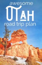Awesome Utah National Park Road Trip Plan visiting Zion, Bryce Canyon, Grand Staircase Escalante and more. Beautiful sights and unique destinations. #nationalparks #roadtrip #utah