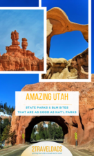 Utah National Parks are amazing with beautiful landscapes and hiking, but the State Parks and National Monuments are just as incredible. Hiking recommendations for striking Southwest travel, camping, hiking and more. #utah #travel #southwest