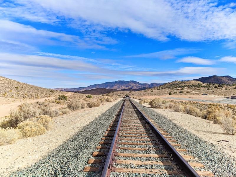 V&T Railway Tracks Rail Biking Carson City Nevada 2020 1
