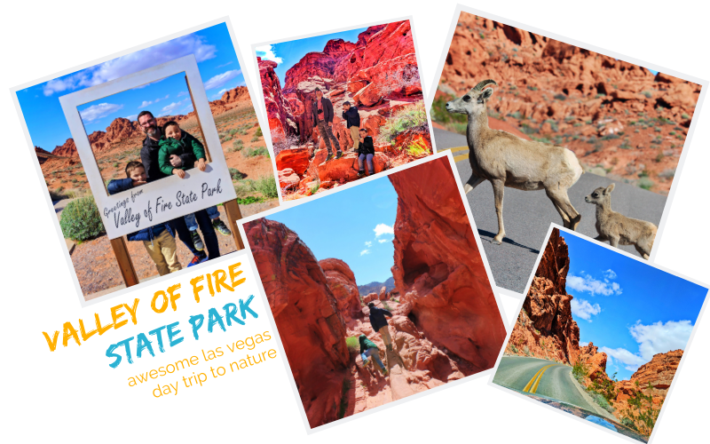 Valley of Fire with kids is a easy Las Vegas day trip. The best of Nevada nature, geology and history in one stop. Kid-friendly hiking and nature outside of Vegas.