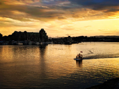 Victoria Harbour Ferry water taxi at Sunset Victoria BC 1